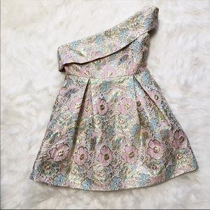 Topshop Floral Jaquard Mini Dress